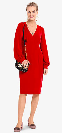 Burda Style sewing pattern 6365A-DL | Jersey crepe dress