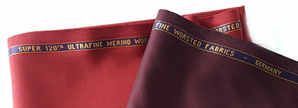 Ultra fine Merino worsted wool fabrics