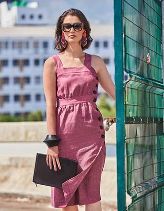 Burda Style sewing pattern 101A-062019-DL | Linen dress